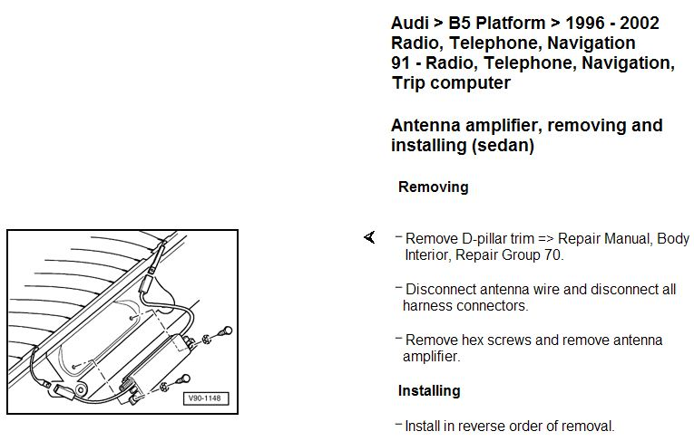 Audi B5 Radio Wiring Diagram